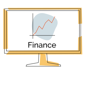 image of monitor with graph showing upward trajectory