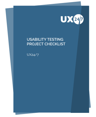 usability testing project checklist