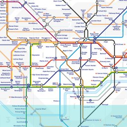 London Tube map image
