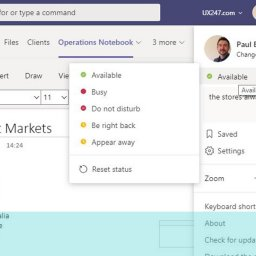 Screen gran of do not disturb options show in Microsoft Teams