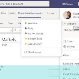 Screen gran of do not disturb options show in Microsoft Teams