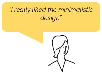 comment from P1 usability testing in Germany