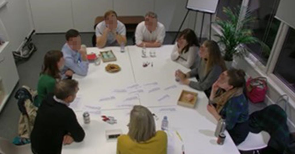 image of focus group involved in discovery research