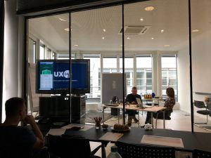Usability testing in Germany lab view