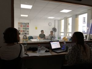 View into the research room in France